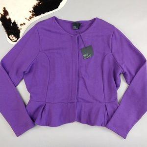 Asos Curve size 16 knit blazer with peplum